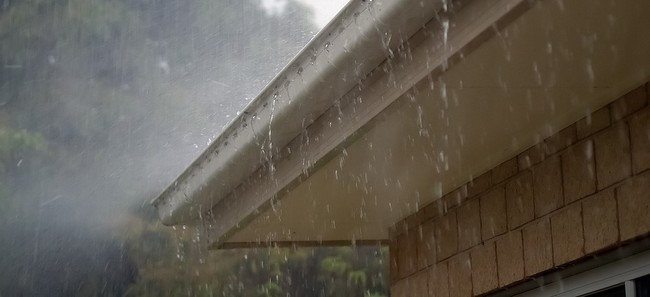 deszcze latem a rynny