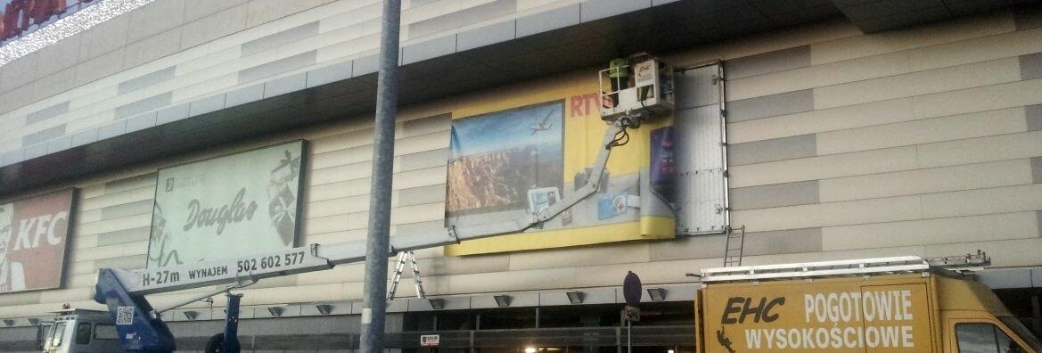 Montaż reklam zewnętrznych w Krakowie