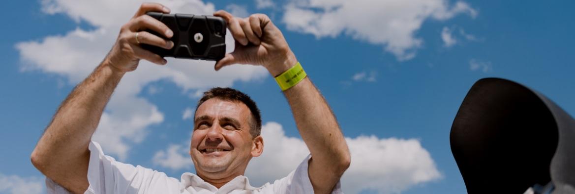 Podnośnik koszowy i selfie