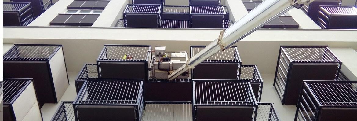 podnośnik montaż balkonów