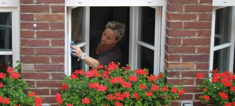 Mycie okien na wysokości