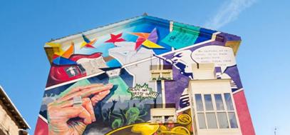 mural na budynku